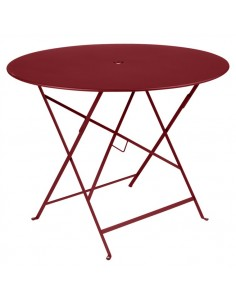 Table pliante métal ronde Ø 96cm Bistro Piment collection Fermob