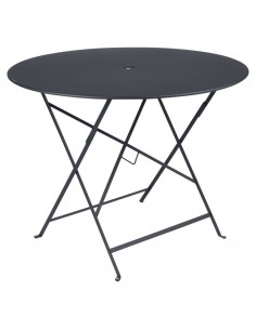 Table pliante métal ronde Ø 96cm Bistro Carbone collection Fermob