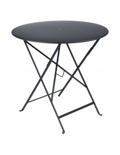 Table pliante métal ronde Ø77cm Bistro Carbone - 4 places - Fermob