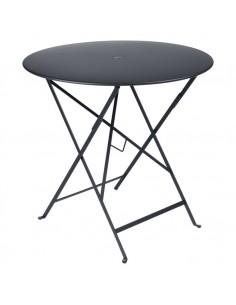 Table pliante métal ronde Ø77cm Bistro Carbone - 4 places - Fermob