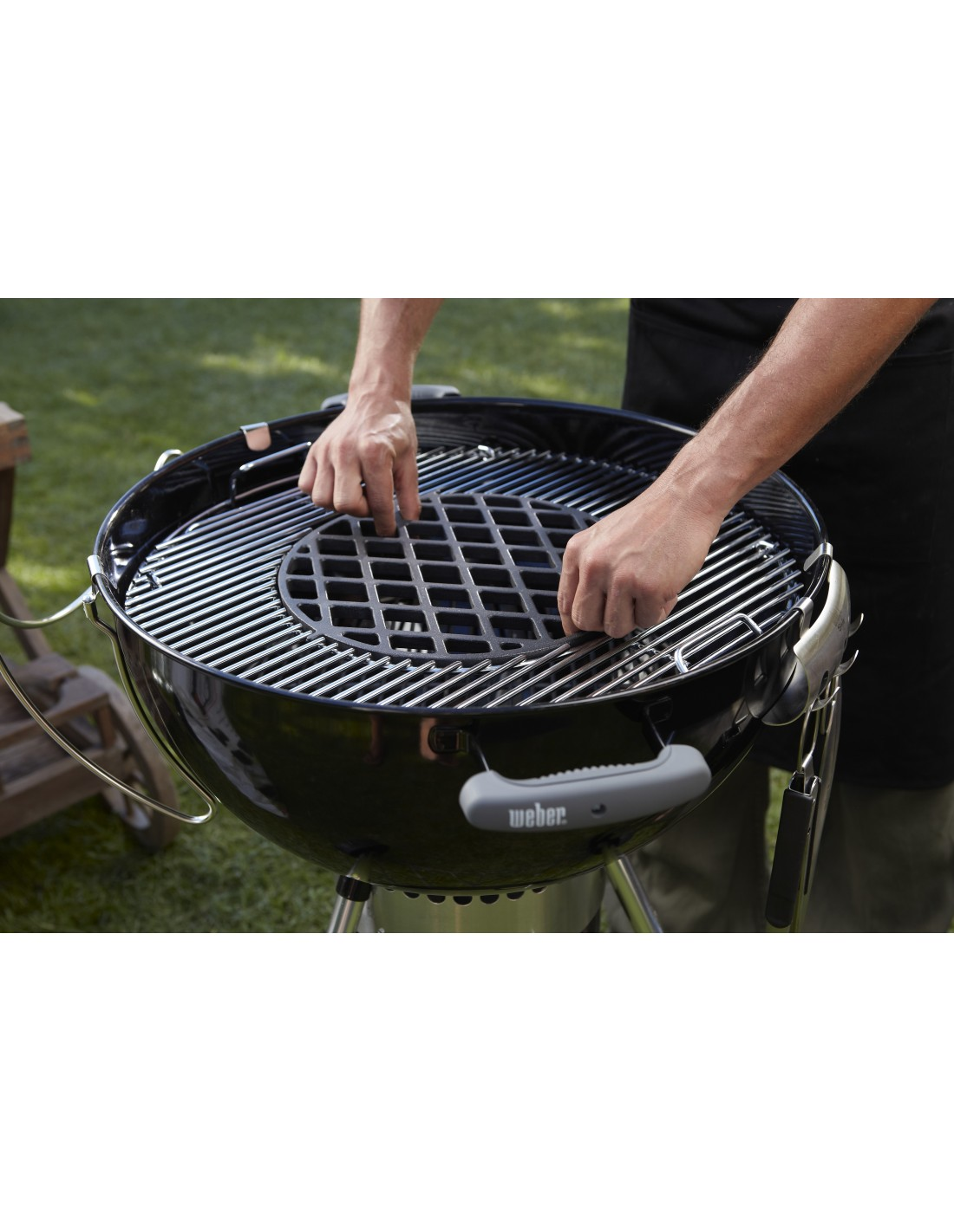 grille de saisie gourmet barbecue system gbs pour barbecue weber. Black Bedroom Furniture Sets. Home Design Ideas