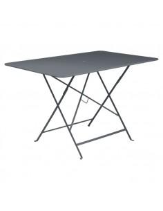 Table pliante Bistro Carbone métal rectangle 117x77cm - 6 places - Fermob
