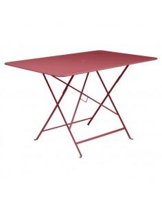 Table pliante Bistro Piment métal rectangle 117x77cm - 6 places - Fermob