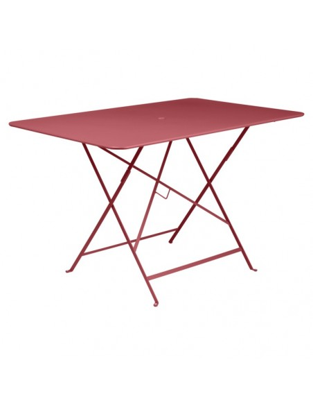 Table pliante Bistro Piment métal rectangle 117x77cm - 6 places - Fermob