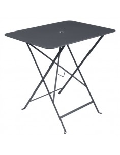 Table pliante métal Carbone rectangle 77x57cm Bistro - 4 places - Fermob