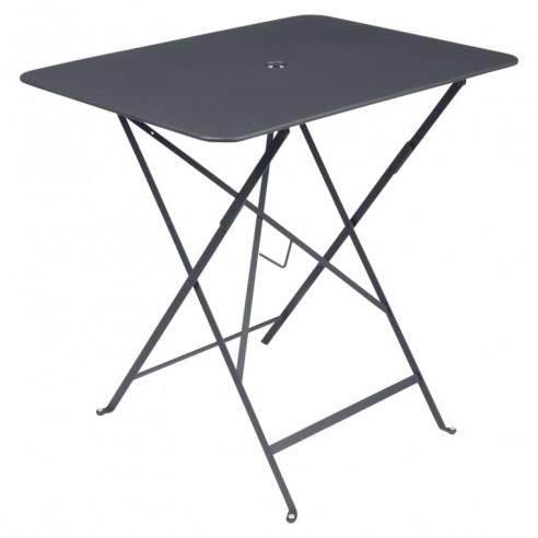 Table pliante métal Carbone rectangle 77x57cm Bistro - 4 places - Fermob