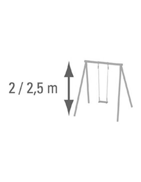Balançoire en plastique réglable coloris au choix pour portique H1.9/2.5 m