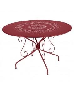 Table métal Montmartre Piment Ø 117 cm collection Fermob
