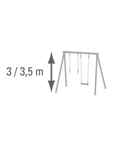 Paire d'anneaux métal réglable pour portique H3/3.5 m