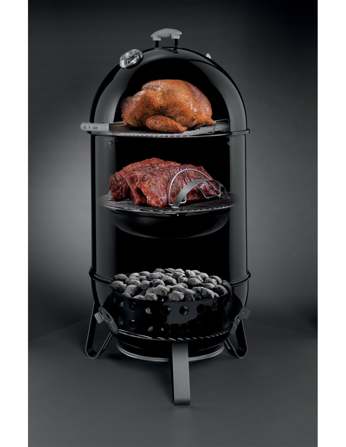 fumoir smokey montain cooker 47cm black weber. Black Bedroom Furniture Sets. Home Design Ideas