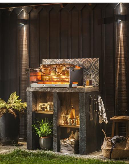 Barbecue Alexandrie - en fonte - à charbon de bois - encastrable - Invicta