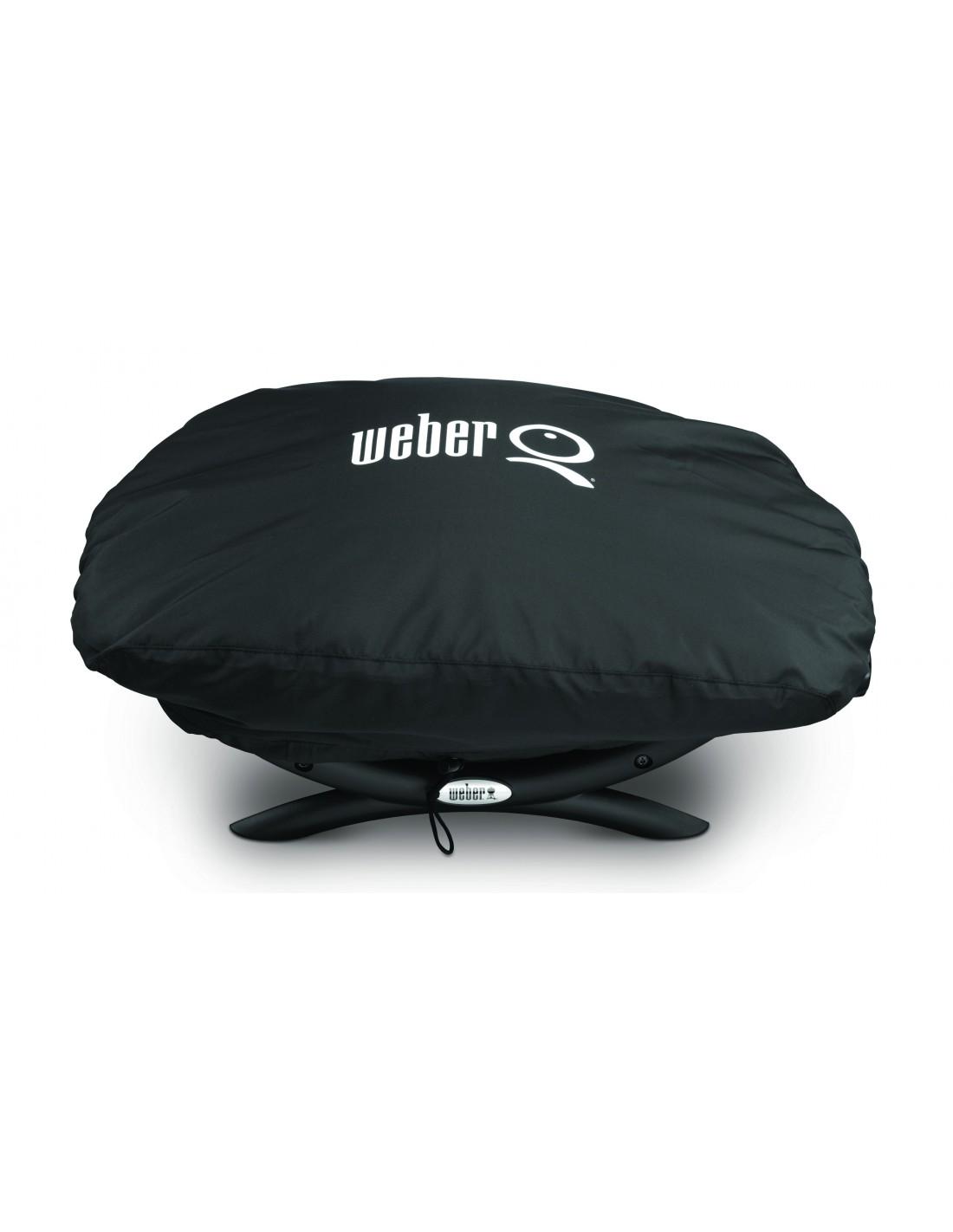 housse premium 7118 noir pour barbecue weber q s rie 2000 2400. Black Bedroom Furniture Sets. Home Design Ideas