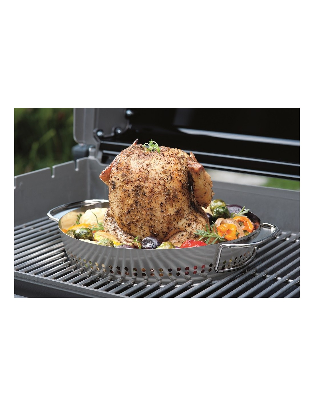 support de cuisson poulet weber inox pour gourmet bbq system. Black Bedroom Furniture Sets. Home Design Ideas
