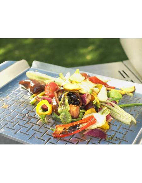 Plat de cuisson Deluxe - Acier inoxydable, rectangle - Weber