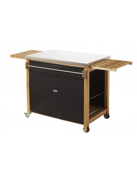 La desserte - Table pour plancha - en robinier et inox - Eno