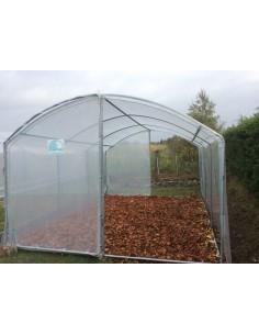 Serre abri-cultures au choix de 9 à 27 m² avec polyéthylène 200 microns traité anti-UV