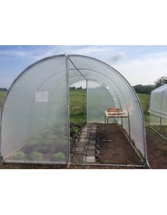 Serre essentielle au choix de 13.5 à 27 m² avec polyéthylène 200 microns traité anti-UV