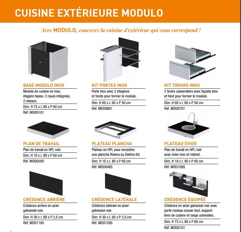 elements de cuisine ext rieure modulo eno. Black Bedroom Furniture Sets. Home Design Ideas